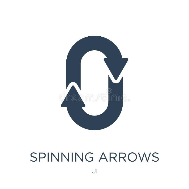 icône de rotation de flèches dans le style à la mode de conception icône de rotation de flèches d'isolement sur le fond blanc les illustration libre de droits