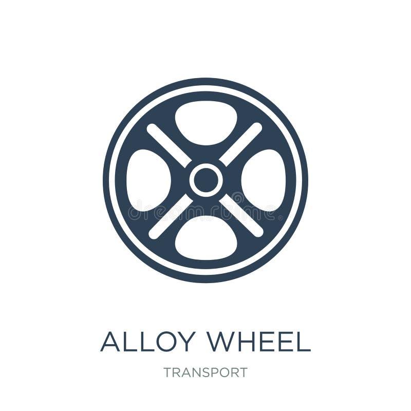icône de roue d'alliage dans le style à la mode de conception icône de roue d'alliage d'isolement sur le fond blanc icône de vect illustration stock