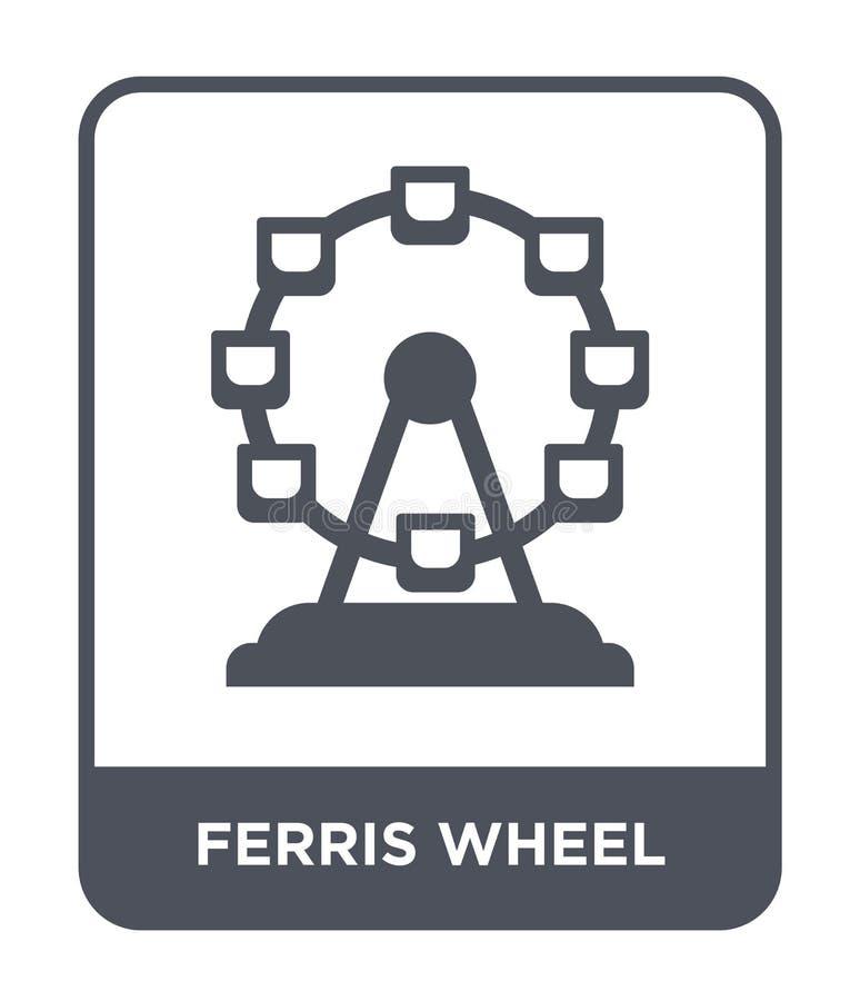 icône de roue de ferris dans le style à la mode de conception icône de roue de ferris d'isolement sur le fond blanc icône de vect illustration de vecteur