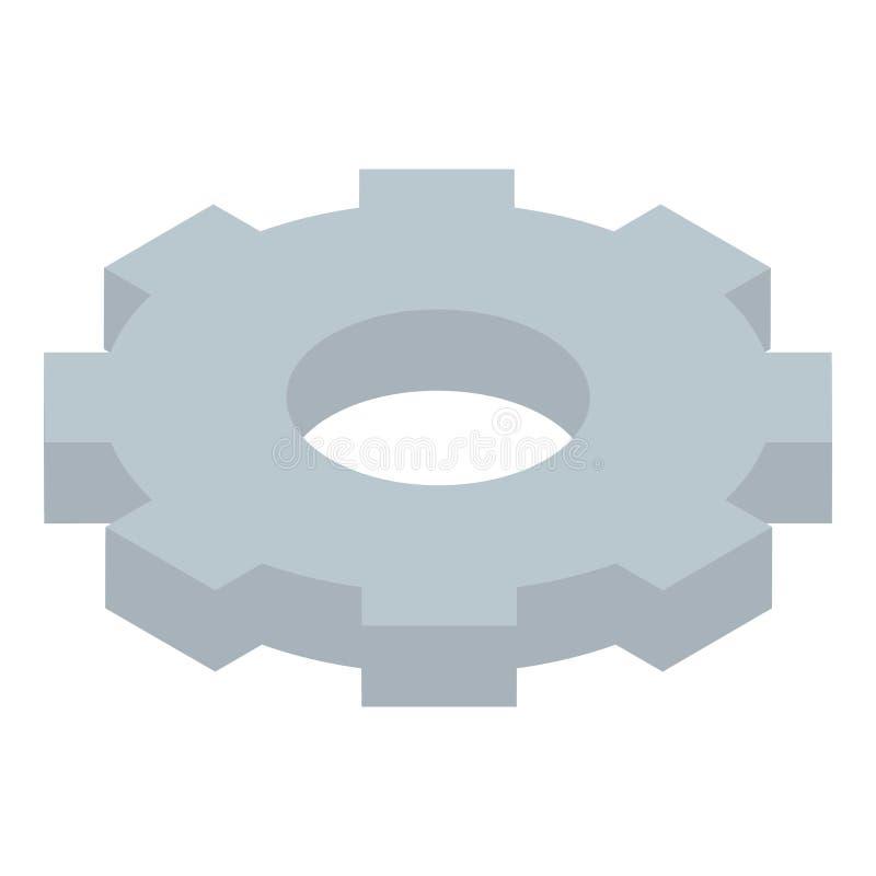 Icône de roue de vitesse en métal, style isométrique illustration libre de droits