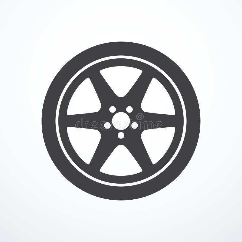 Icône de roue de voiture illustration stock