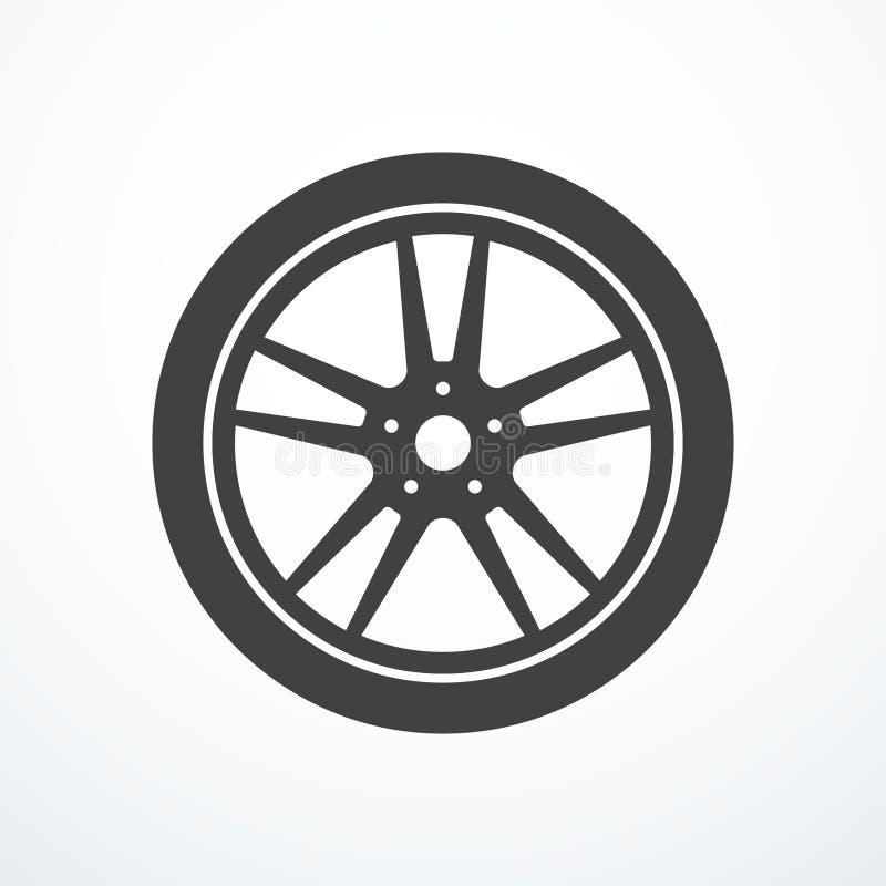 Icône de roue de voiture de vecteur illustration de vecteur