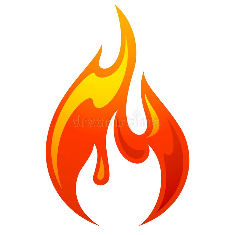 Icône de rouge de la flamme 3d du feu illustration libre de droits