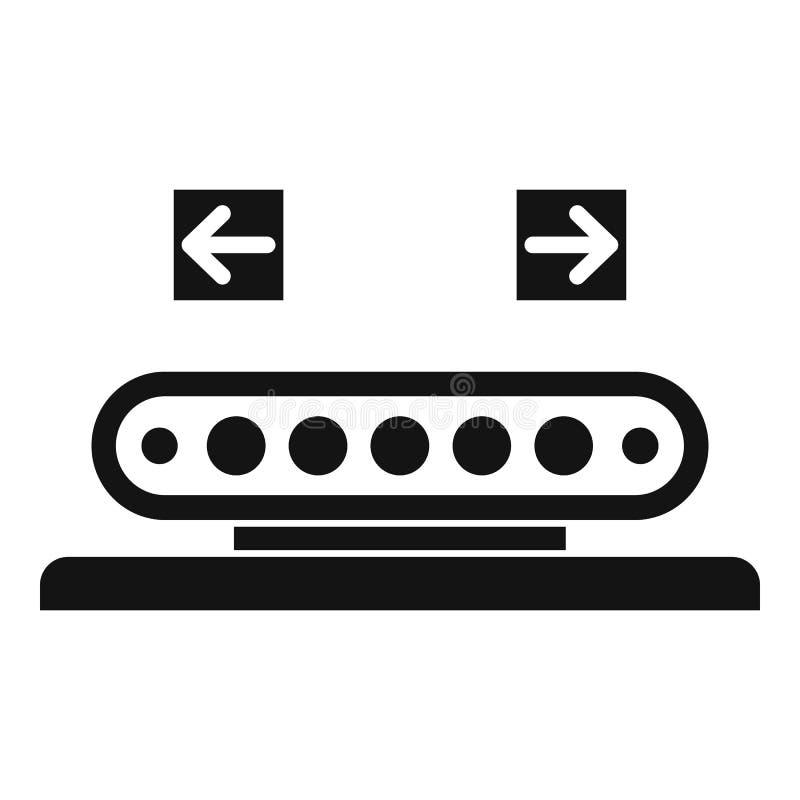 Icône de roulage de ligne d'assemblage, style simple illustration libre de droits