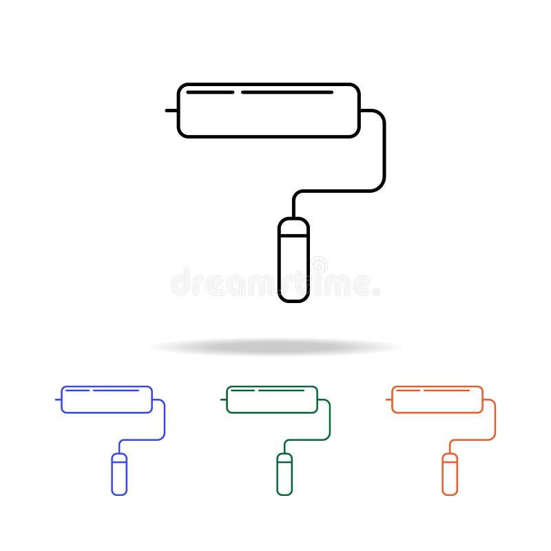 Icône de rouleau Éléments des immobiliers dans les icônes colorées multi Icône de la meilleure qualité de conception graphique de illustration de vecteur