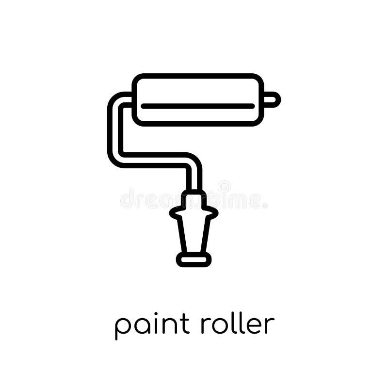 Icône de rouleau de peinture  illustration de vecteur