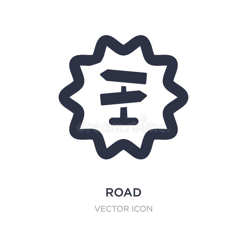 Icône de route sur le fond blanc Illustration simple d'élément de concept d'UI illustration stock