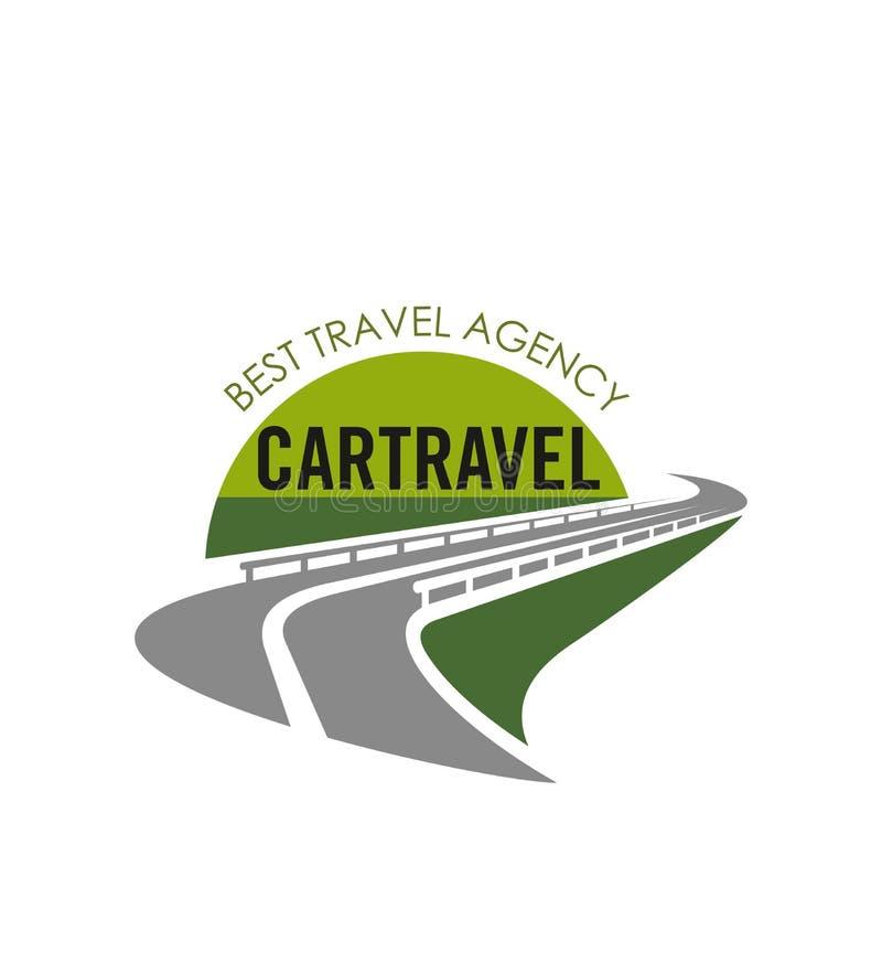 Icône de route de vecteur pour l'agence de voyages de touristes illustration stock