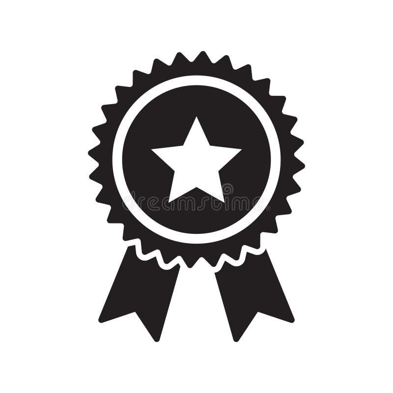 Icône de ruban de contrôle de qualité Le choix certifié ou meilleur de produit de vecteur a recommandé le certificat approuvé d'é illustration stock