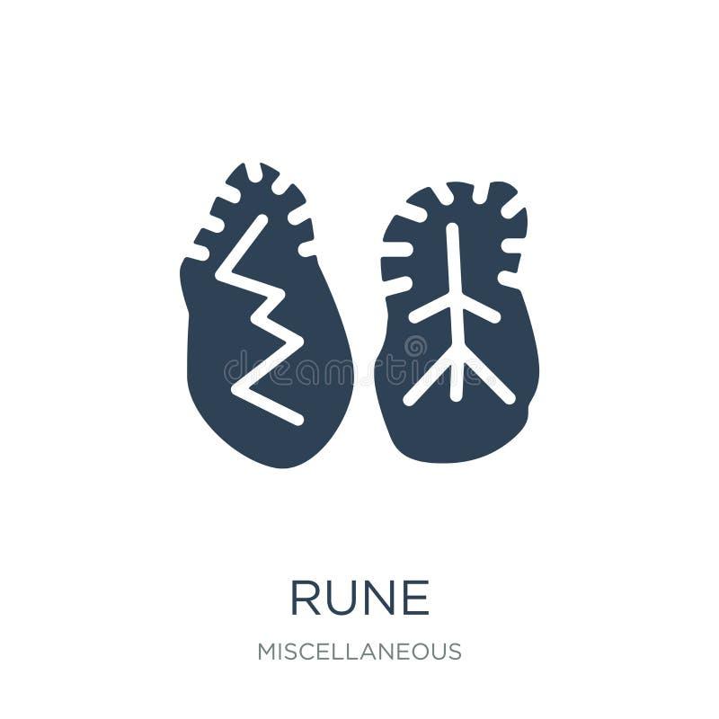 icône de rune dans le style à la mode de conception icône de rune d'isolement sur le fond blanc symbole plat simple et moderne d' illustration de vecteur