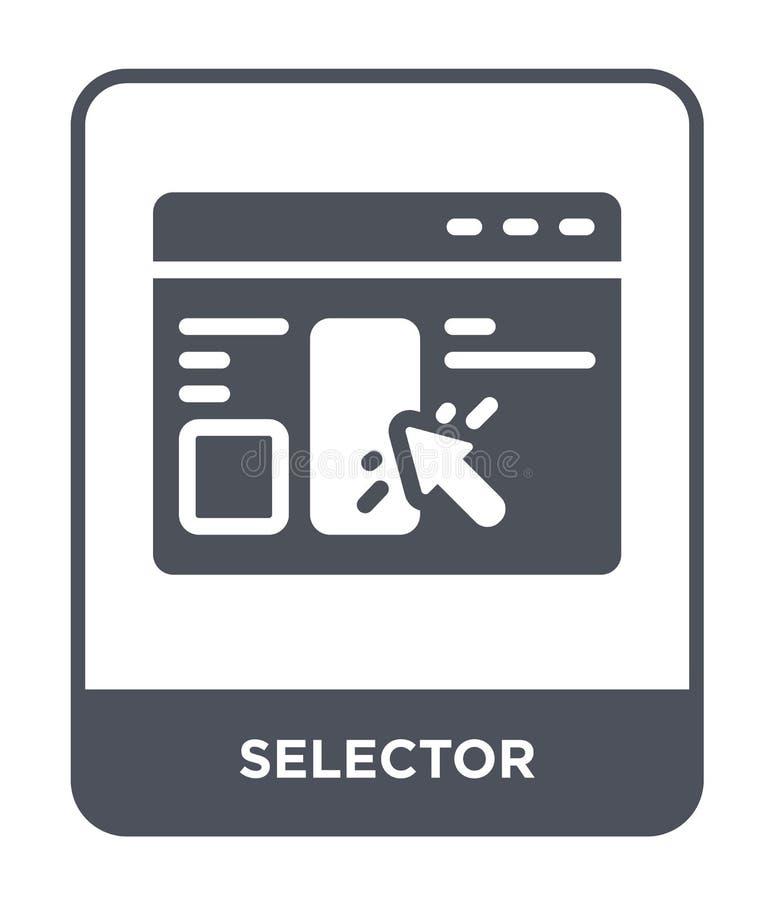 icône de sélecteur dans le style à la mode de conception icône de sélecteur d'isolement sur le fond blanc appartement simple et m illustration libre de droits