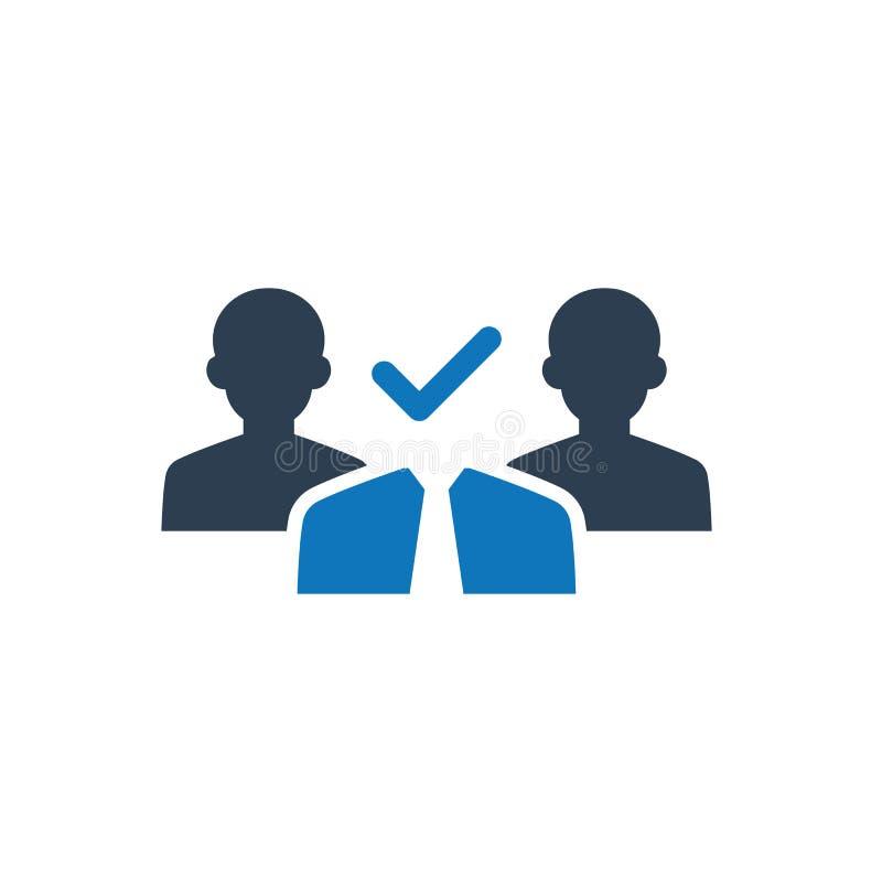 Icône de sélection de candidat illustration de vecteur