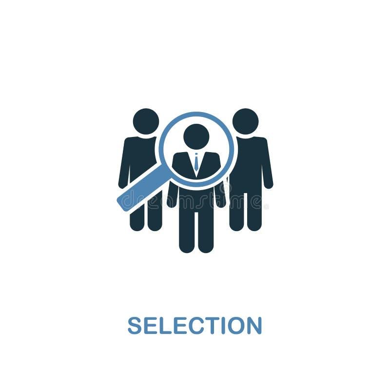 Icône de sélection Pixel parfait Symbole monochrome d'icône de sélection de collection de ressources humaines Élément de deux cou illustration libre de droits