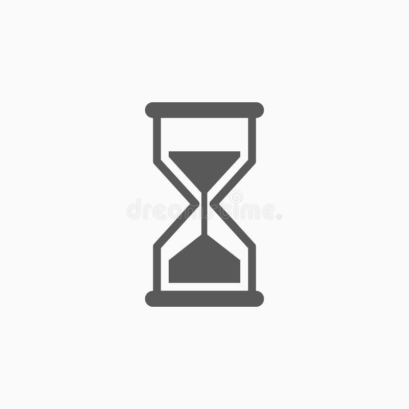 Icône de sablier, verre de sable, temps illustration libre de droits
