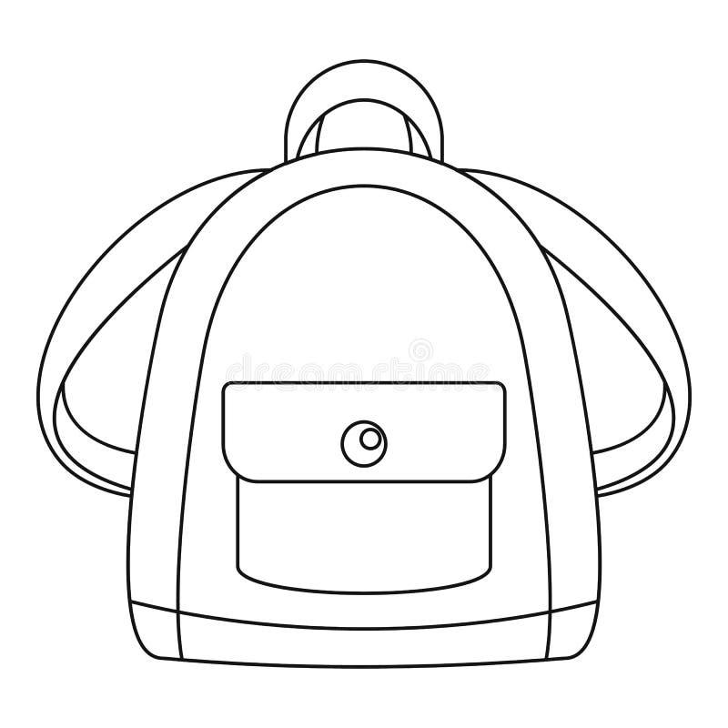 Icône de sac à dos de fille, style d'ensemble illustration de vecteur