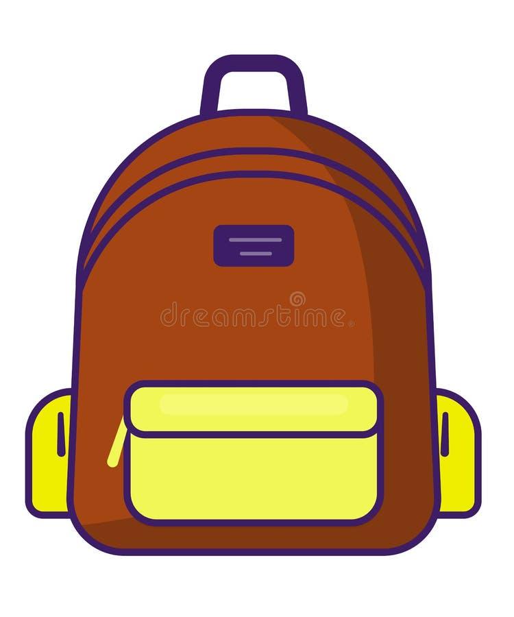 Icône de sac à dos - symbole d'école de vecteur - icône de voyage illustration libre de droits