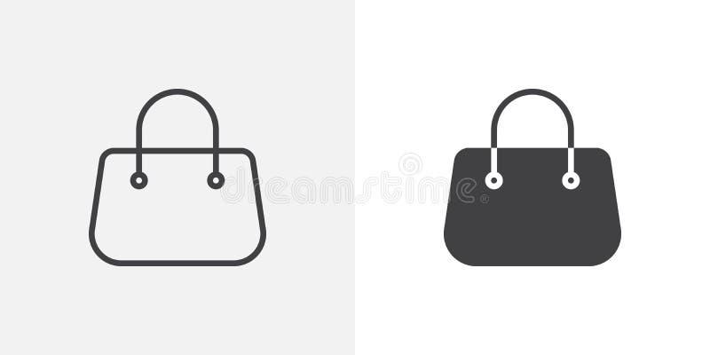 Icône De Sac à Main De Bourse Illustration de Vecteur