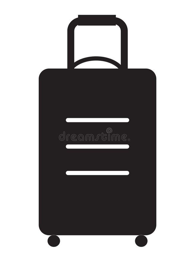 Icône de sac de voyage sur le fond blanc illustration de vecteur