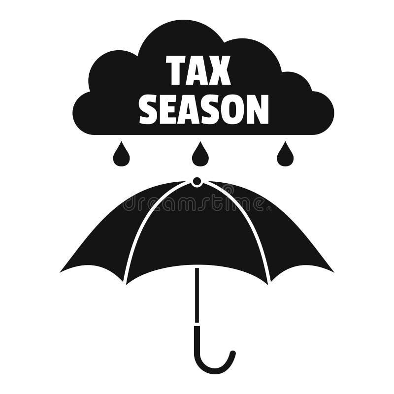 Icône de saison d'impôts, style simple illustration stock