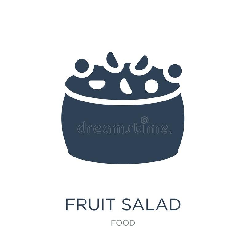 icône de salade de fruits dans le style à la mode de conception icône de salade de fruits d'isolement sur le fond blanc icône de  illustration de vecteur