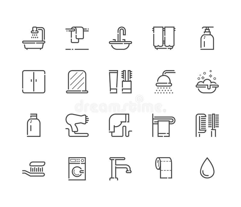 Icône de salle de bains Vecteur 48x48 réglé illustration libre de droits
