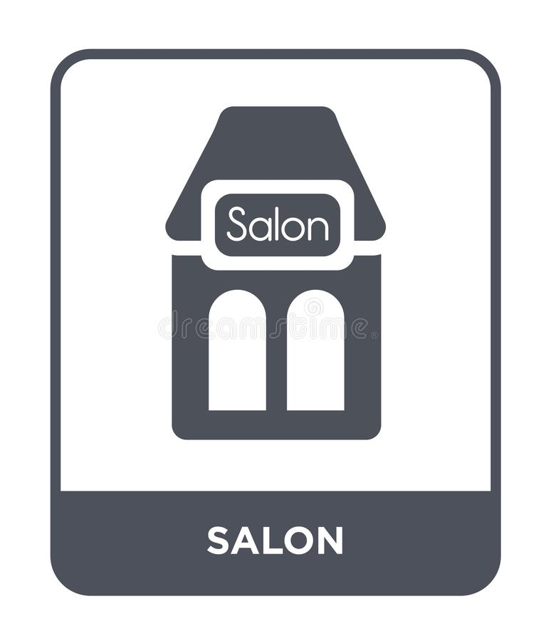 icône de salon dans le style à la mode de conception icône de salon d'isolement sur le fond blanc symbole plat simple et moderne  illustration de vecteur