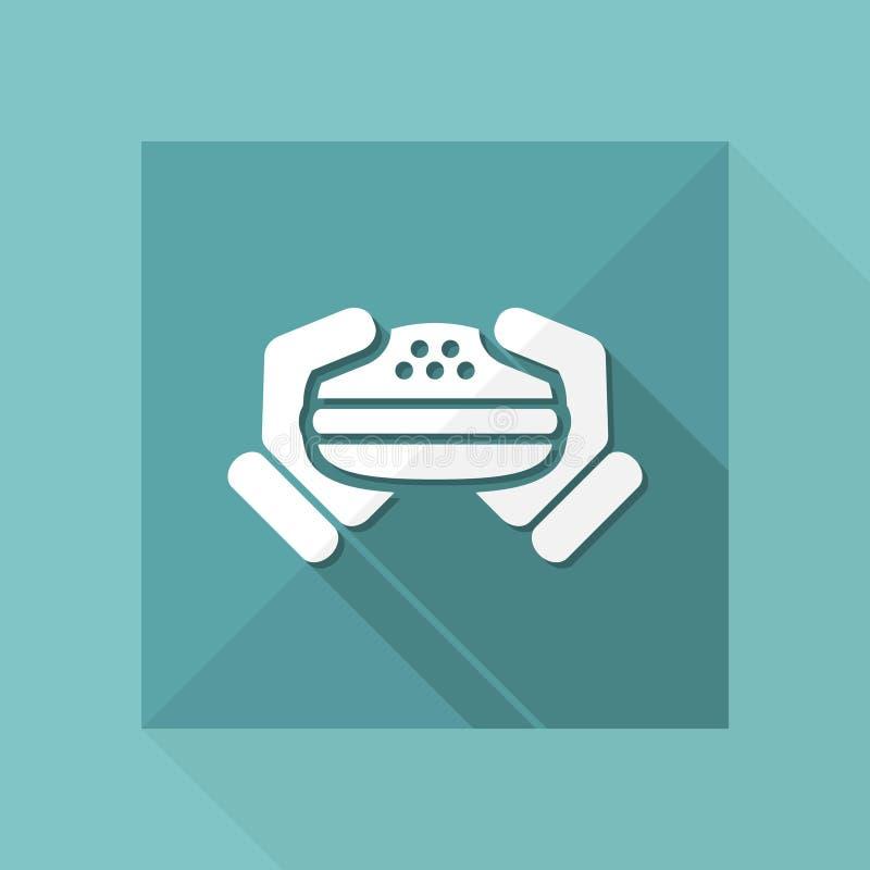 Icône de sandwich illustration libre de droits