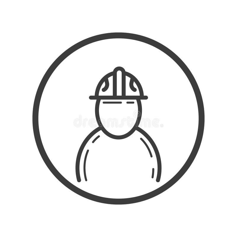 Icône de schéma d'ingénieur dans le cadre rond illustration libre de droits