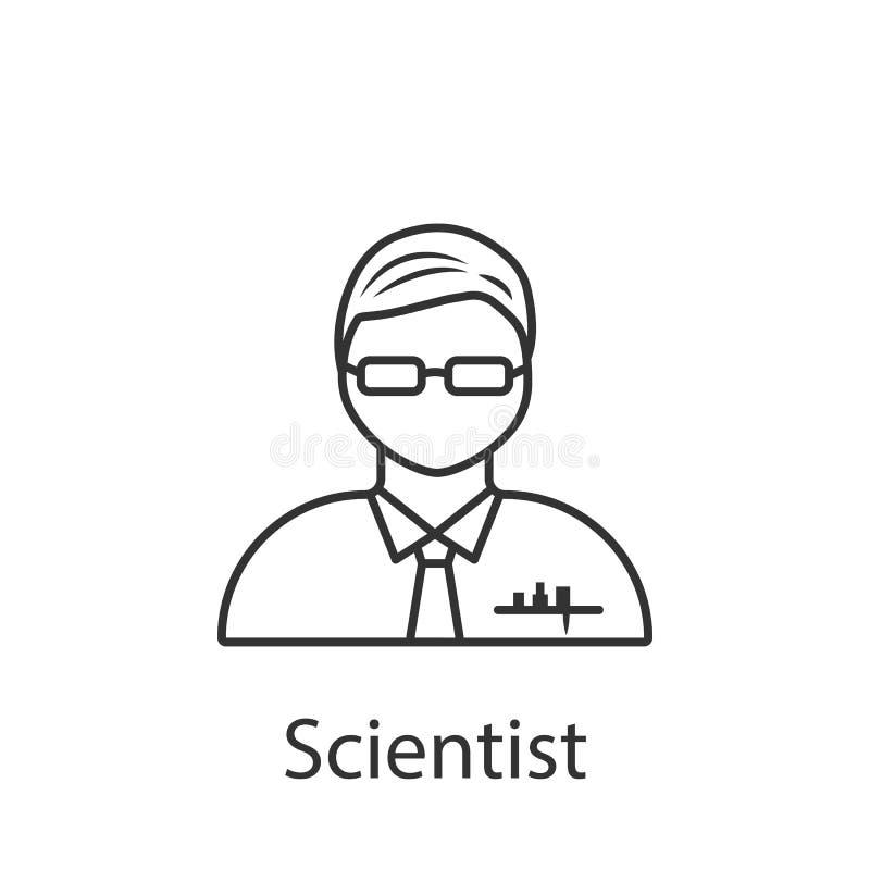 Icône de scientifique Élément d'icône d'avatar de profession pour des applis mobiles de concept et de Web L'icône détaillée de sc illustration libre de droits