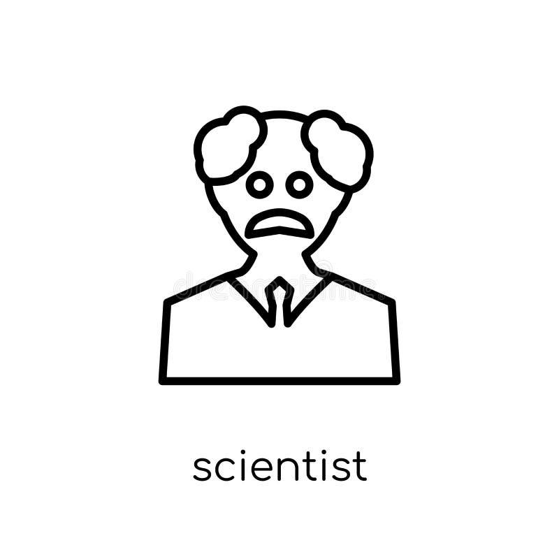 Icône de scientifique Icône linéaire plate moderne à la mode de scientifique de vecteur illustration stock