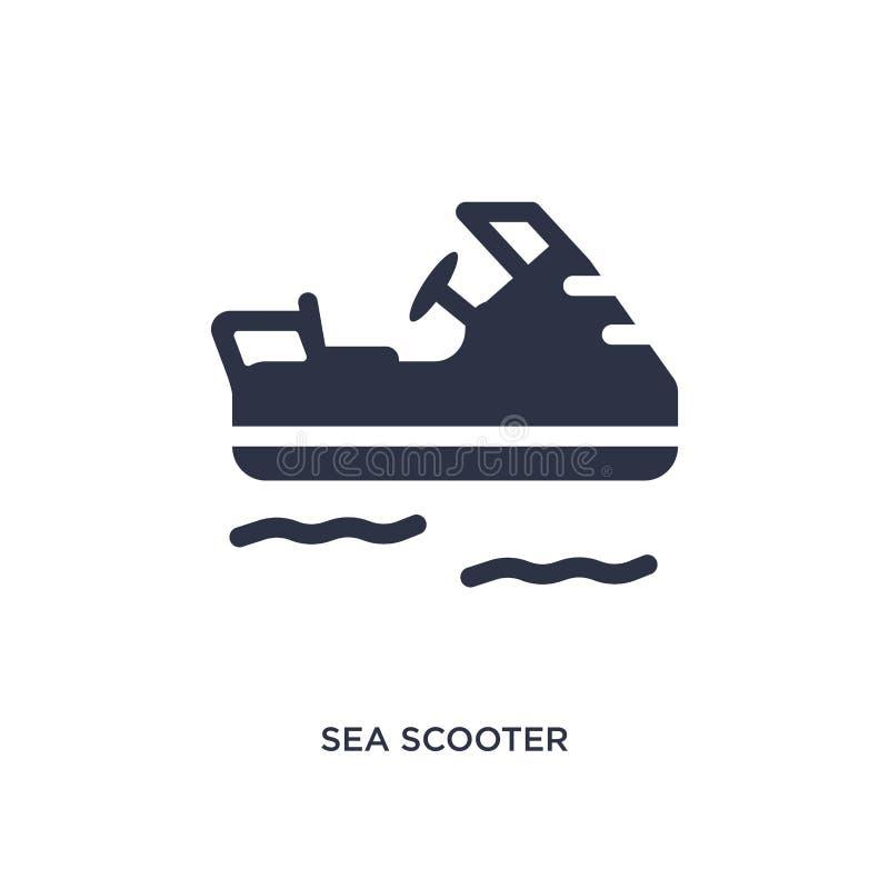 icône de scooter de mer sur le fond blanc Illustration simple d'élément de concept d'été illustration stock