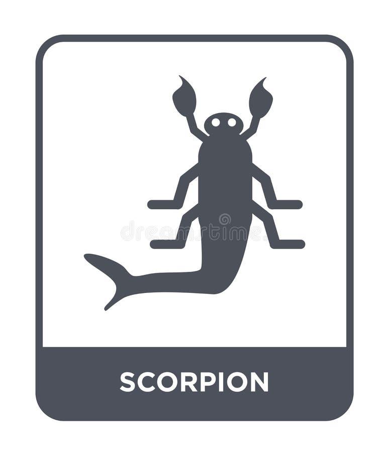 icône de scorpion dans le style à la mode de conception icône de scorpion d'isolement sur le fond blanc appartement simple et mod illustration de vecteur