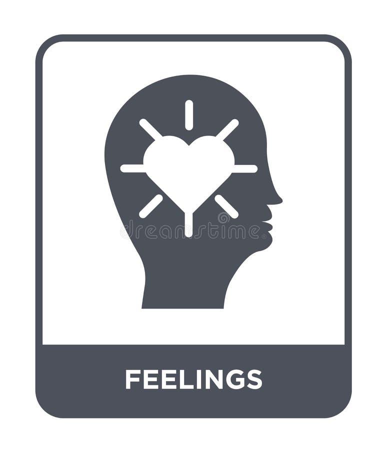 icône de sentiments dans le style à la mode de conception icône de sentiments d'isolement sur le fond blanc appartement simple et illustration libre de droits