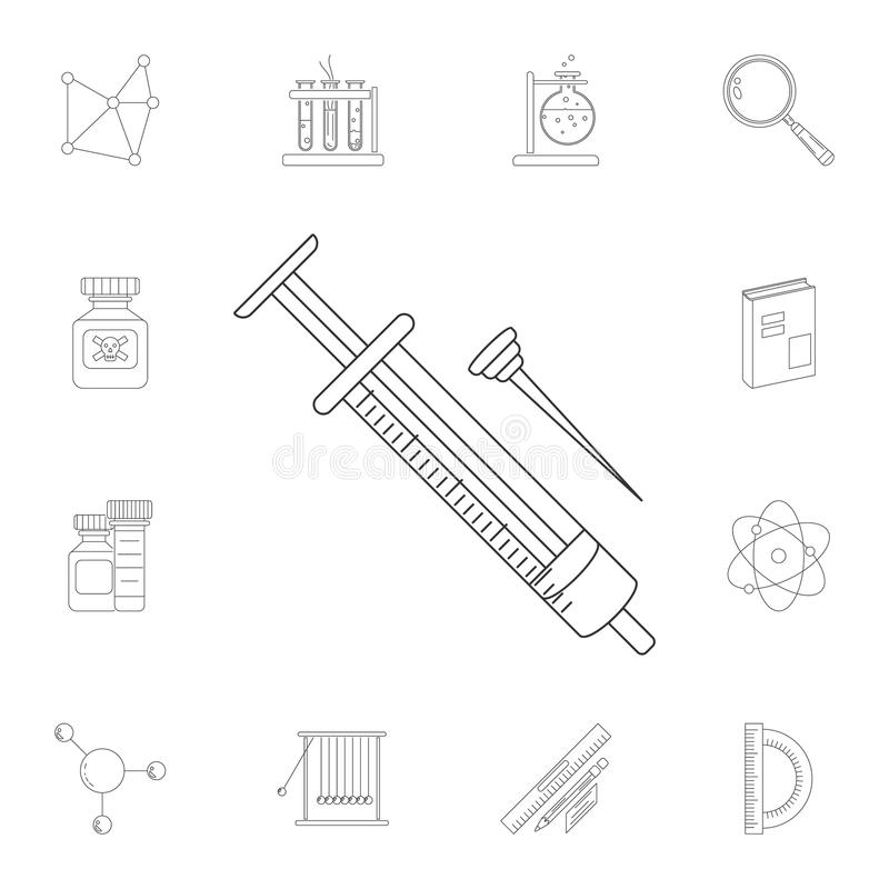 Icône de seringue Ensemble détaillé d'illustrations de la Science et de laboratoire Icône de la meilleure qualité de conception g illustration libre de droits