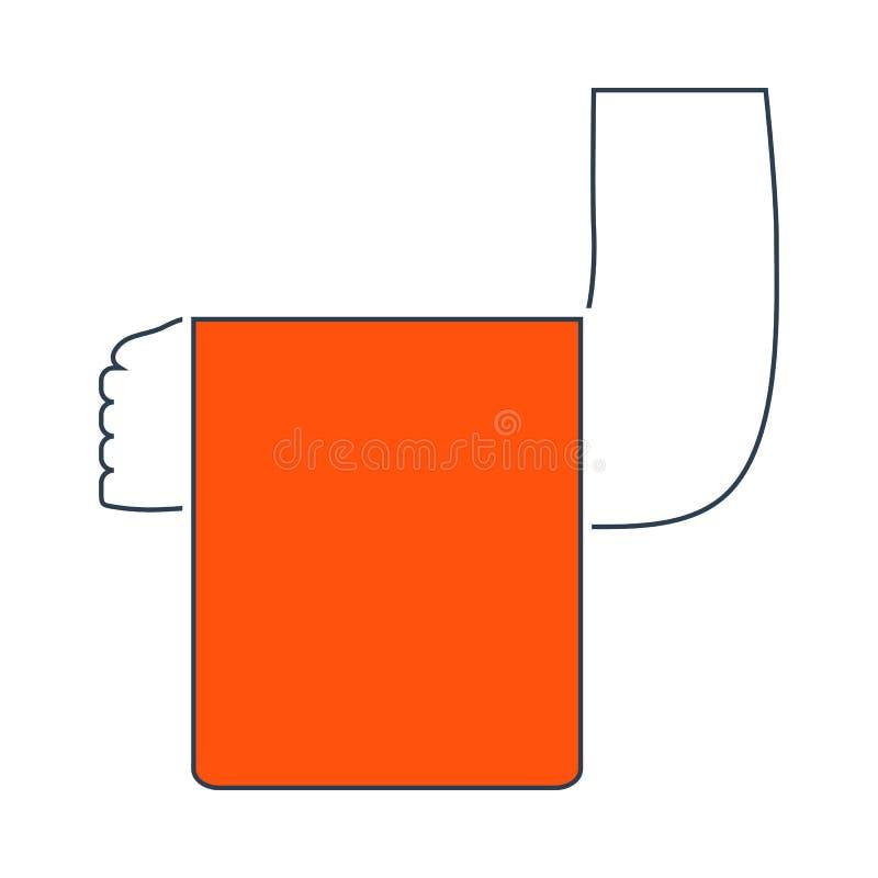 Ic?ne de serveur Hand With Towel illustration stock