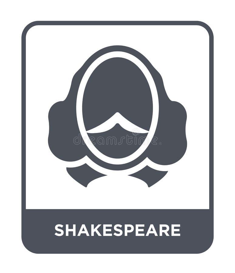 icône de shakespeare dans le style à la mode de conception icône de shakespeare d'isolement sur le fond blanc icône de vecteur de illustration de vecteur
