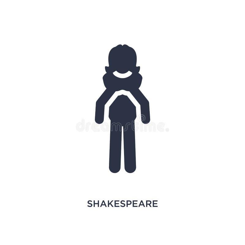 icône de shakespeare sur le fond blanc Illustration simple d'élément de concept de littérature illustration libre de droits