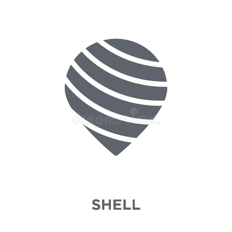 Icône de Shell de collection illustration stock