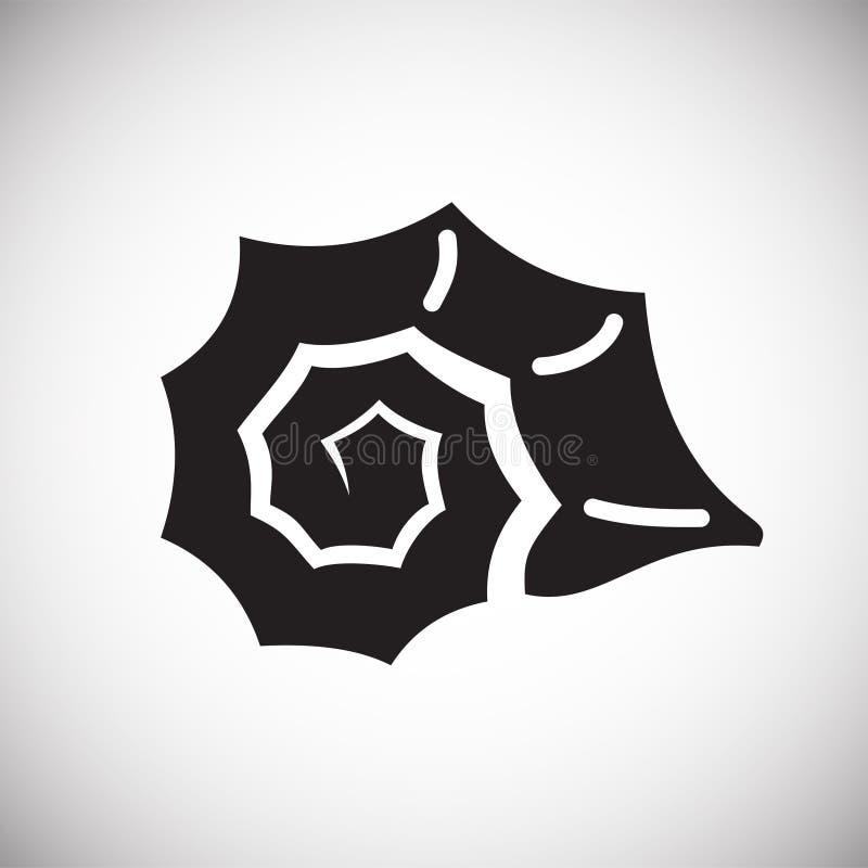 Icône de Shell de mer sur le fond blanc pour le graphique et la conception web Signe simple de vecteur Symbole de concept d'Inter illustration de vecteur