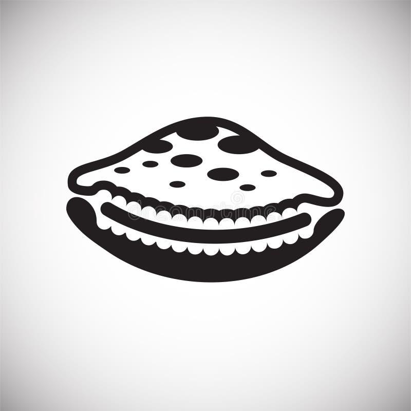 Icône de Shell de mer sur le fond blanc pour le graphique et la conception web Signe simple de vecteur Symbole de concept d'Inter illustration stock