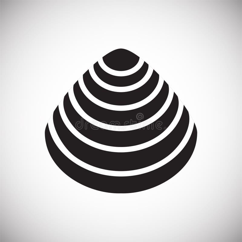 Icône de Shell de mer sur le fond blanc pour le graphique et la conception web Signe simple de vecteur Symbole de concept d'Inter illustration libre de droits