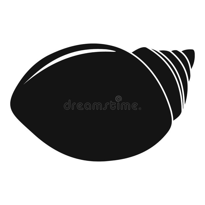 Icône de Shell de mollusques, style simple illustration libre de droits