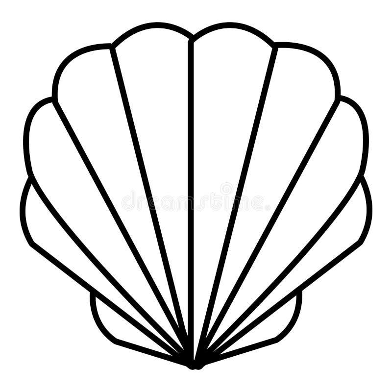 Icône de Shell, style d'ensemble illustration stock