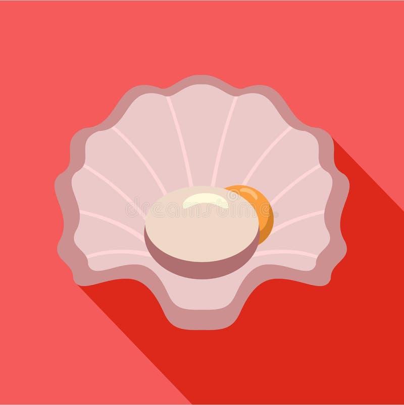 Icône de Shell, style plat illustration de vecteur