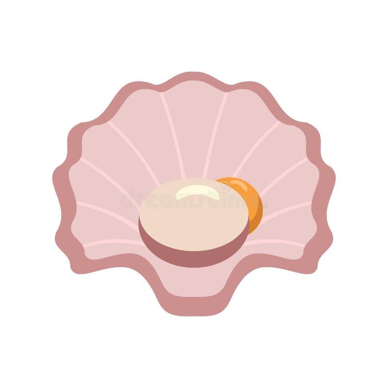 Icône de Shell, style plat illustration libre de droits