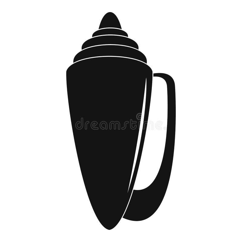 Icône de Shell, style simple illustration de vecteur