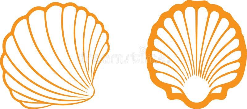 Icône de Shell sur le fond blanc illustration stock