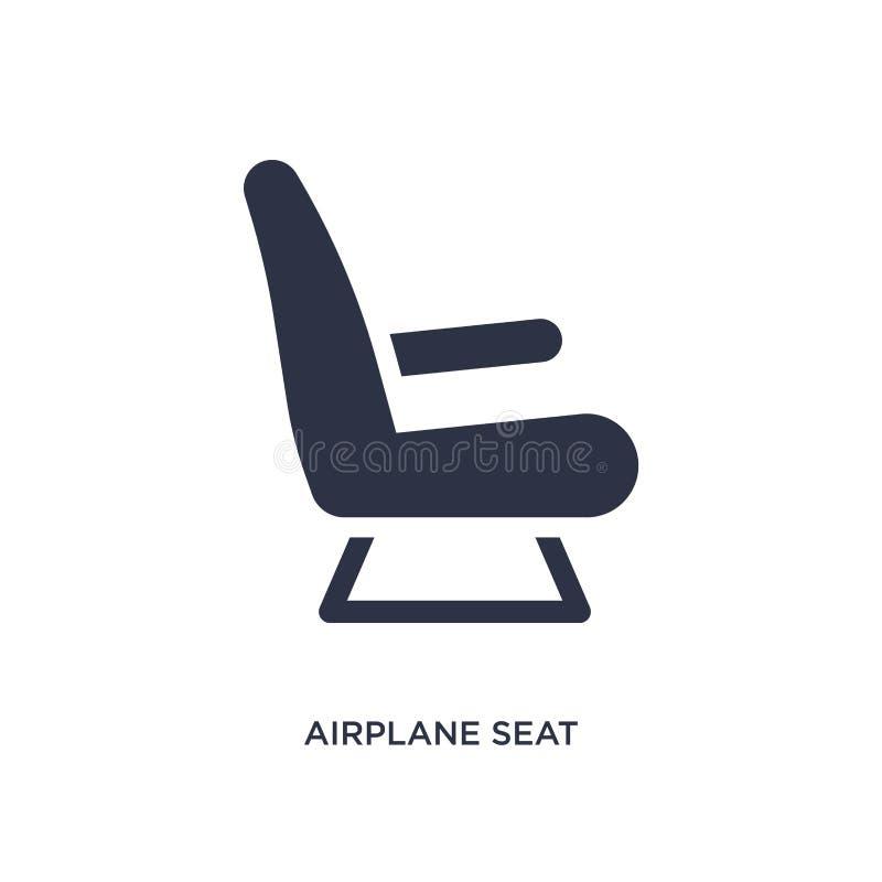 icône de siège d'avion sur le fond blanc Illustration simple d'élément de concept de terminal d'aéroport illustration stock