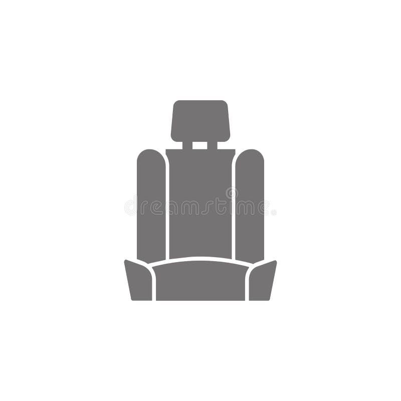 Icône de siège de voiture illustration stock