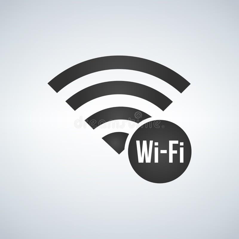 Icône de signal de connexion de Wifi avec le connexion le cercle illustration sur le fond moderne illustration de vecteur